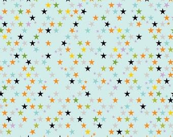 04458 - Riley Blake Halloween magic Bella Blvd stars in multi  cotton fabric- 1 /2 yard