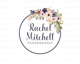 Premade logo design flower logo boutique logo photography logo floral logo design photographer logo business logo
