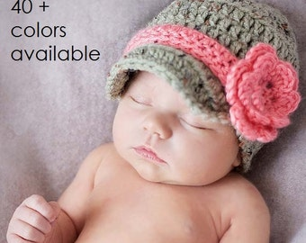 Crochet Hat, Baby Hat, Baby Girl Hat, Newborn Baby Girl, Coming Home Outfit, Baby Shower Gift, Newborn, Newborn Photo Prop, Newborn Girl Hat