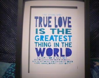 """5""""x 7"""" Framed Quote - """"MLT"""" - Miracle Max / the Princess Bride / Gift"""