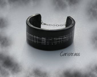 Black and white Cuff Bracelet