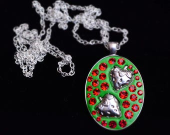 Strawberry Fields Forever statement pendant necklace