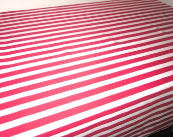 Red Stripe Tablecloth - Pirate Birthday Parties, Circus Party,  Showers, Photo prop, Dr.Suess