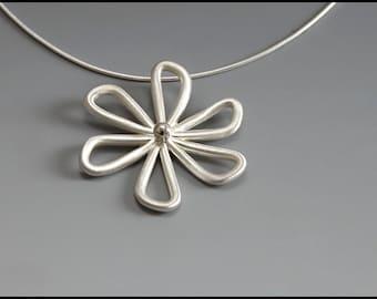 6 Petal Sterling Silver Flower
