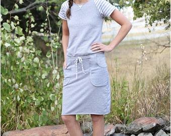 Boston Boatneck Sewing Pattern: Women's Dress Sewing Pattern, Women's Top Sewing Pattern