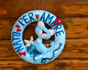 baby shower gift  wreath, baby shower decor for front door, it's a boy,  a boy is here, nursery wreath,  new baby wreath, baby announcement