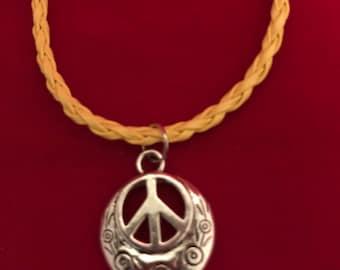 Yellow Peace Bracelet