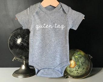 Guten Tag Baby Onesie, organic baby onesie, baby shower gift, organic cotton