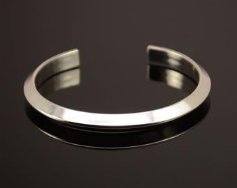 Sterling silver bracelet. Cuff bracelet. Men's silver bracelet