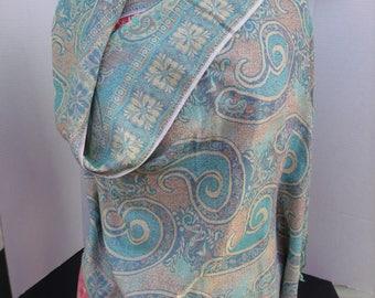 Pashmina Scarf Made in Afghanistan - Woolen - Wrap - Shawl - Large - Vintage