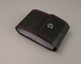 Leather Card Holder, PERSONALIZED, Credit card wallet, Credit card organizer, Leather Card Case, Credit Card Holder, leather card wallet