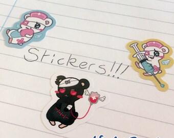 Menhera Hamsters Sticker Sheet