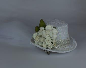 small bridal hat