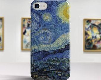 "Vincent Van Gogh ""Starry Night"" iPhone 8 case iPhone 7 Plus case iPhone X case Phone cover for iPhone X 8 7 6 etc. PC-VVG-13"