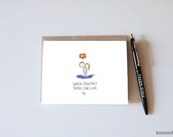Insta Like Card // Instagram Card // Instagram Like Cards // More Likes // Social Media Card // Instagram Anniversary // Instagram Valentine