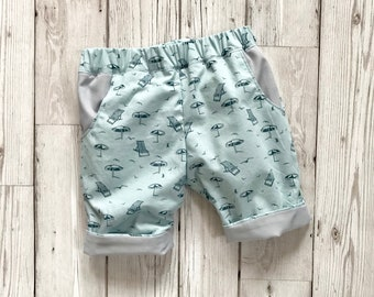 Baby Summer Trousers - Boys Holiday Outfit - Summer Boys Clothes - Unisex Trousers - First Birthday Outfit - Casual Baby Trousers