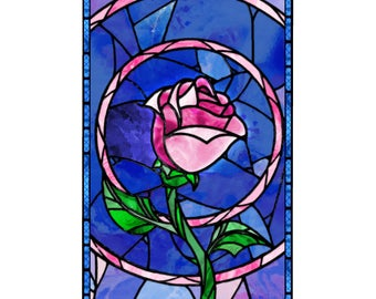 Beauty and the Beast, rose banner