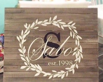 Laurel Wreath Established Signs