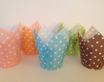 Tulip Baking Cups ~ Muffin Baking Liners ~ Cupcake Baking Liners (24)