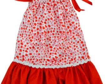 Little girls pollowcase dress and headband set.