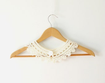 Peter Pan Lace Collar - Irish Style - Off White