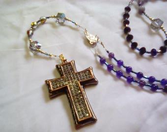 Amethyst & Crystal Rosary