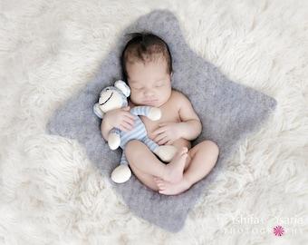 Pattern - Crochet Newborn Blanket Mohair - Photo Prop Pattern