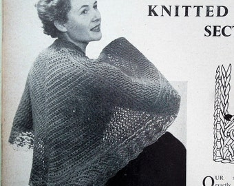 Better Knitting A Daily Mail Instruction Book Vintage 1940s 1950s 40s 50s original knitting patterns women's jacket suit shawl men's sweater