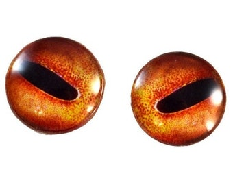 SALE Octopus Glass Eyes - 25mm - Glass Eyes - Orange