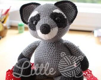 Amigurumi Croche Pattern - Bandit the Raccoon