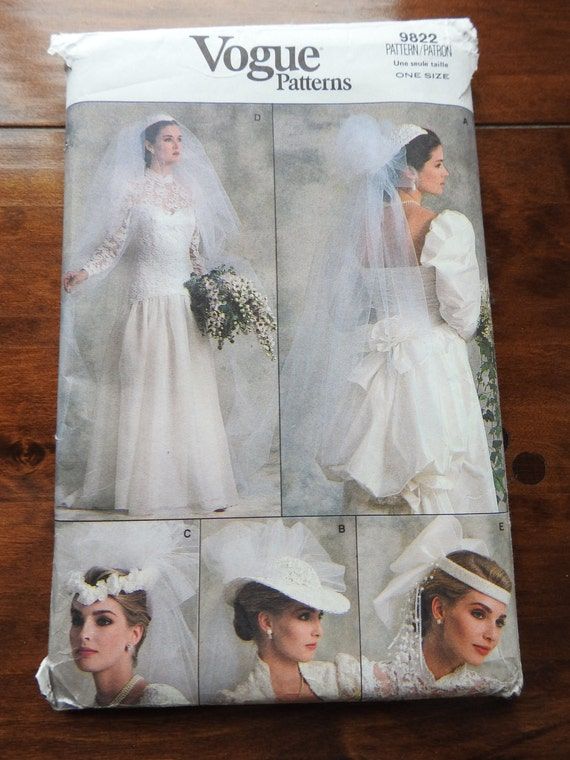 Vogue 9822 Bridal Veils And Head Pieces Sewing Pattern