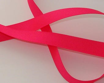 1 meter Ribbon satin grosgrain 16mm wide fushia