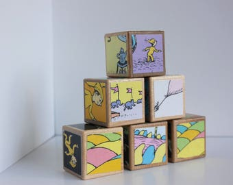6 Oh The Places You'll Go Wood Blocks