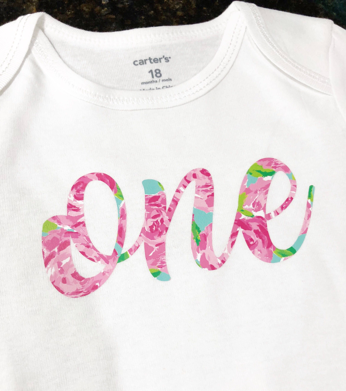 Lilly Pulitzer Inspired Baby Onesies Birthday Onesie