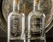 From the Reasons you drink-Personalized Etched Spirit Decanter-Home bar/bar cart essentials for a drinking Dad-Custom gifts for Father's Day