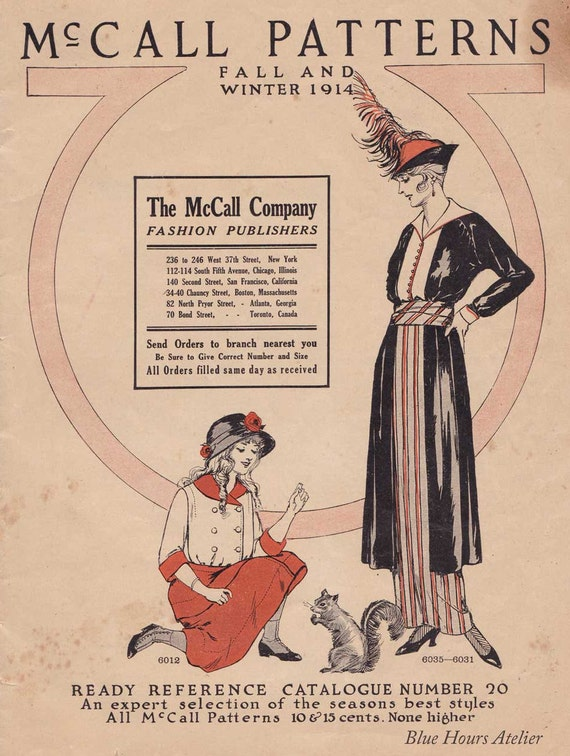 PDF Reproduction - 1914 Fall-Winter- McCall Pattern Catalog from ...