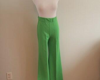 1970's Green Bell Bottom Pants