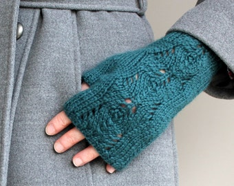 Knitting Pattern Scots Pine Fingerless Gloves