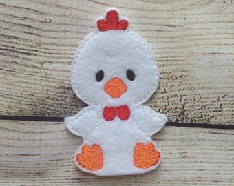 Chicken Finger Puppet,  Pretend Play, Imagination, Easter Basket, Road Trip, Kids, Quiet Time, Barnyard, Farm