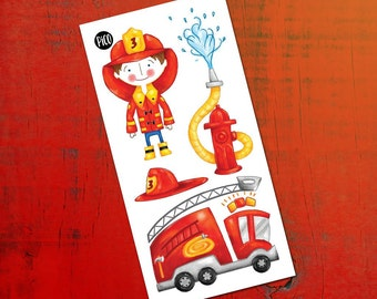 Temporary Tattoos - Max the fireman