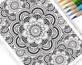 Mandala Pattern DIY Print at home  Digital Download Colouring Page, Adult Colouing Mandala, Patterns