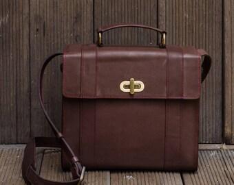 Leather Briefcase DSLR Camera Bag