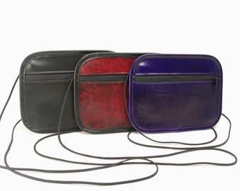 Medium Leather Phone / Passport Crossbody Bag