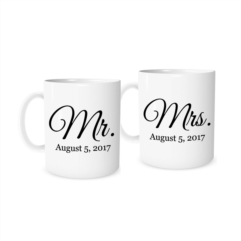 Wedding Gift Mugs: Wedding Gift Personalized Wedding Gift Mr And Mrs Mugs