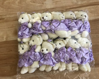 Party Favors ~~Set of 12  Lavender with hearts  Teddy Bear, Baby shower ,Bear measures approximately 4.5 inches~~2 Dollars Each