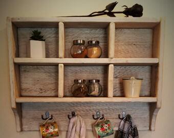 Reclaimed Timber Cubby Shelf- Pigeon hole shelf - Display Shelf- Farm house - Kitchen shelf -Bathroom shelf- Bedroom shelf-Mug Rack