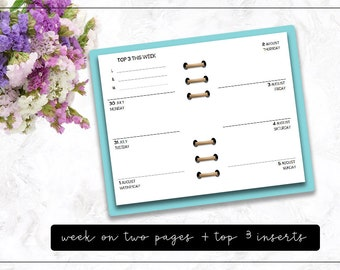 Ringbound : Week on Two Pages + Top 3 Inserts | DreamPlanRepeat