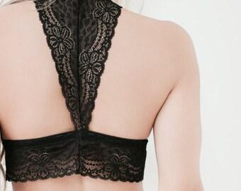 Black Lace Lingerie Bralette ANGEL
