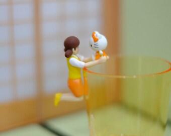 Gachapon Fuchiko on the cup Hello Kitty Orange (Osaka) toy miniatures