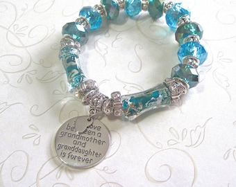 "Grandmother Bracelet. "" The love between a grandmother and granddaughter is forever"""